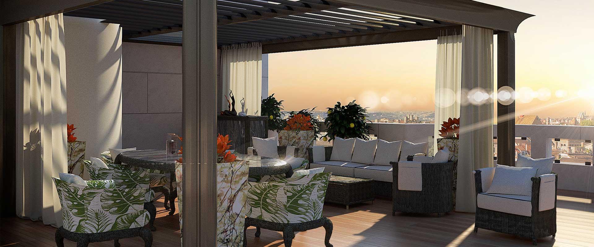 Pergola bioclimatique toit terrasse